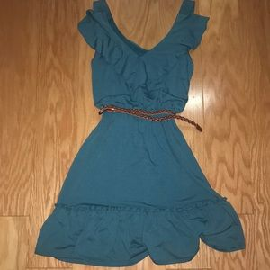 NWT teal belted dress, Size XS